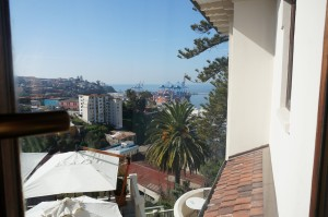 View from the hotel room in Casa Higueras