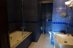 bathrooms at the hotel room in Casa Higueras in Chile