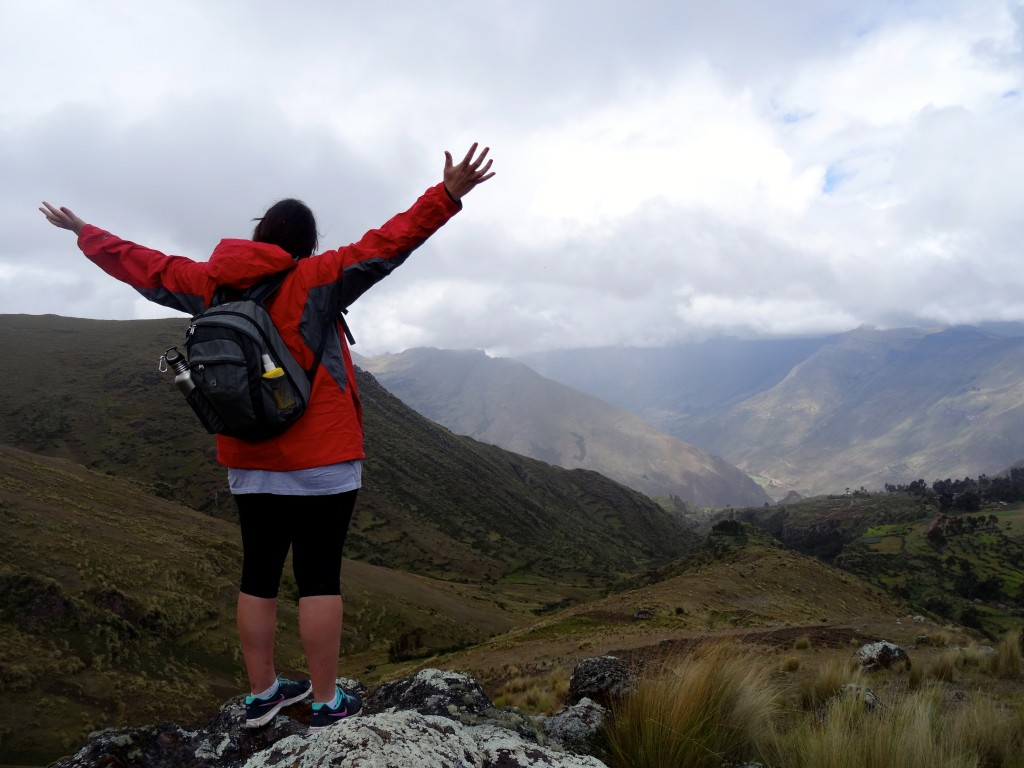 Overlooking the beautiful Andes Mountains.