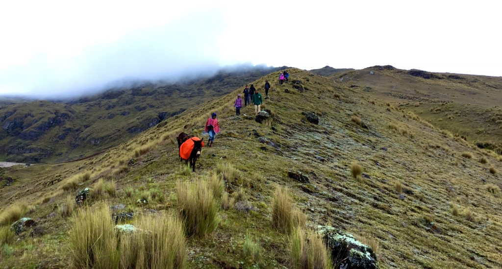 Trekking on the Lares Trail.