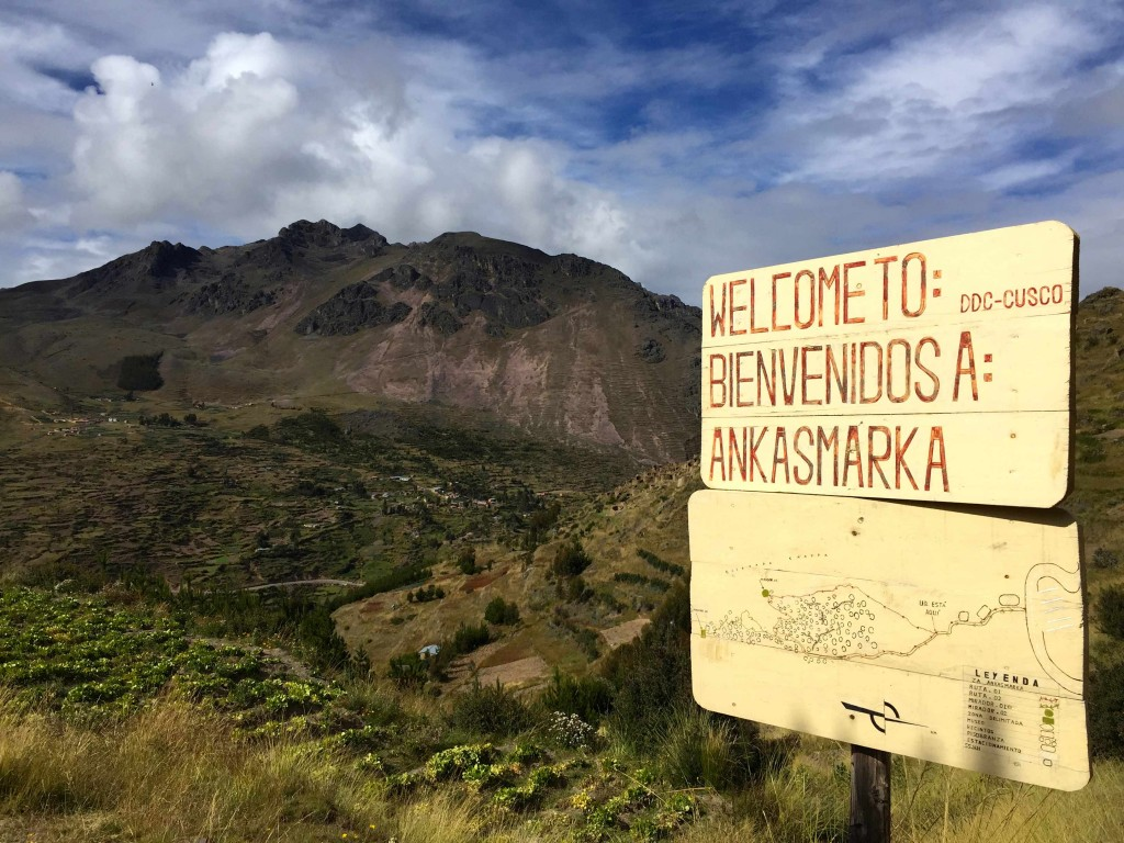 Welcome sign to Ankasmarka.