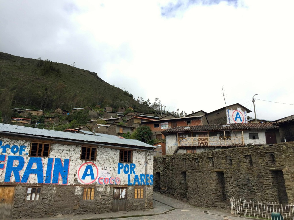 The town of Choquecancha on the Lares Trail.