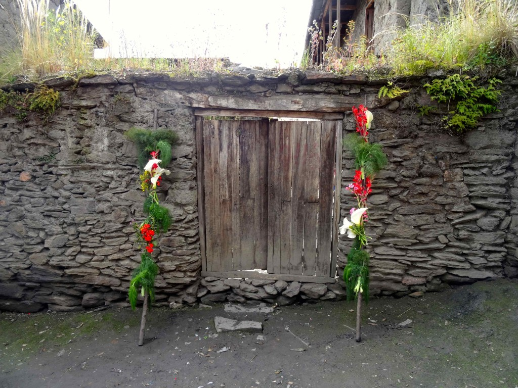Entrance to a home in a local village on the Lares Trail.