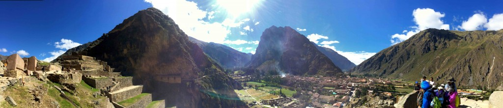 Beautiful Panorama on the Lares Trail.