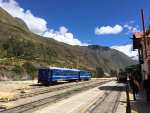 Train on the Lares Trail.