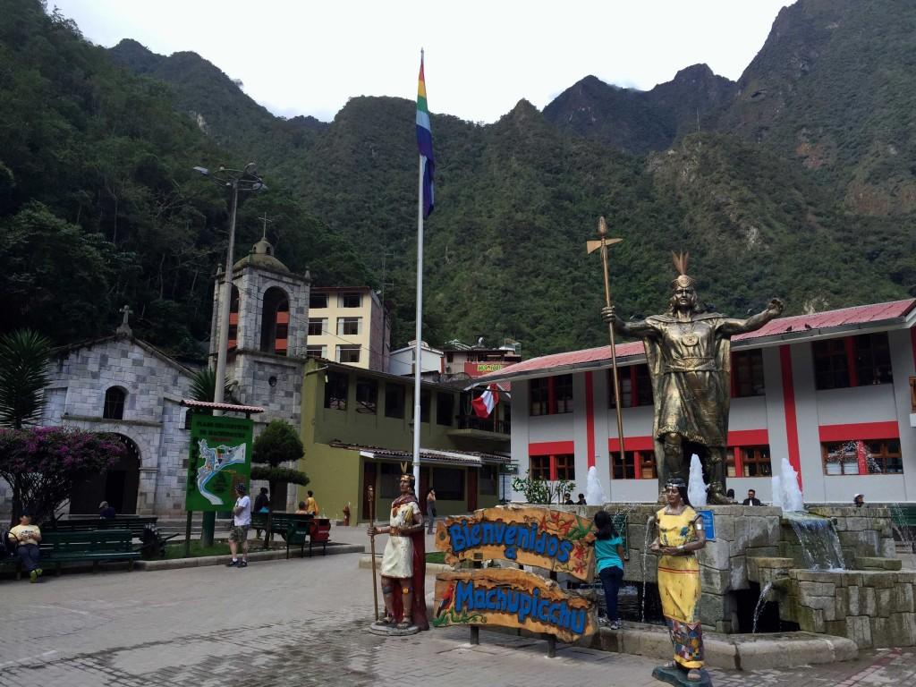 INCA in AGUAS-CALIENTES on the Lares Trail