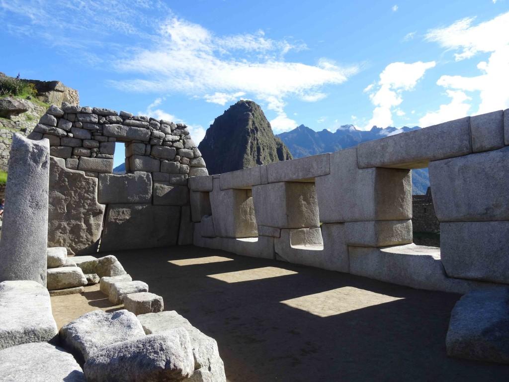Ancient Ruins at Machu Picchu.