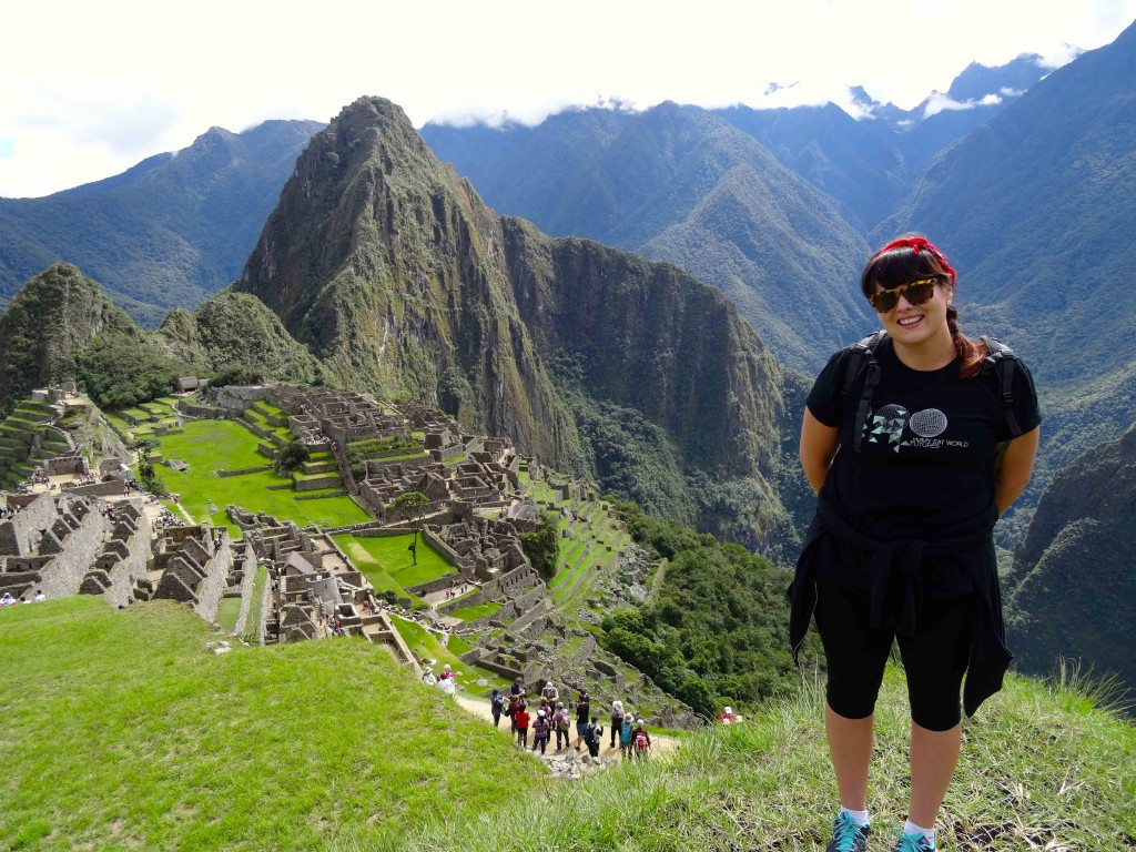 Perfect postcard picture at Machu Picchu, Peru.