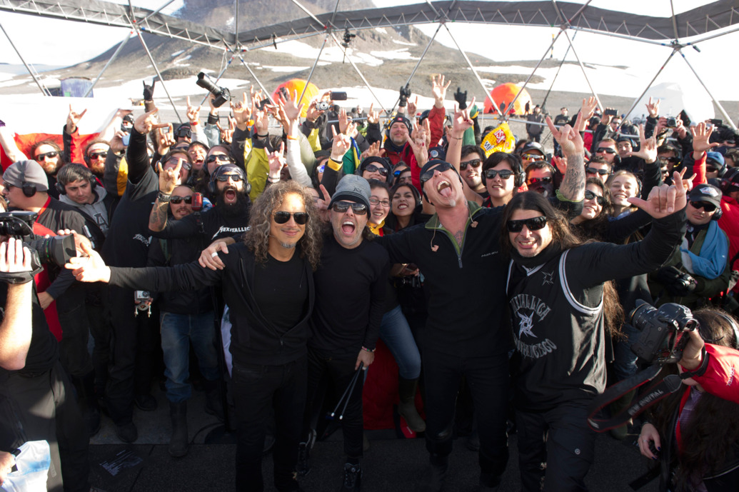 facts about Antarctica - Metallica playing a gig in Antarctica