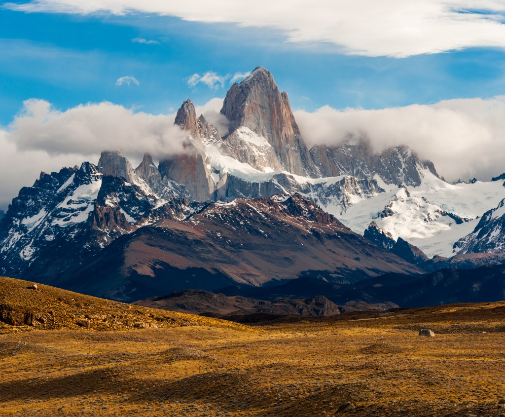 Mountains and rough terrains in Patagonia.