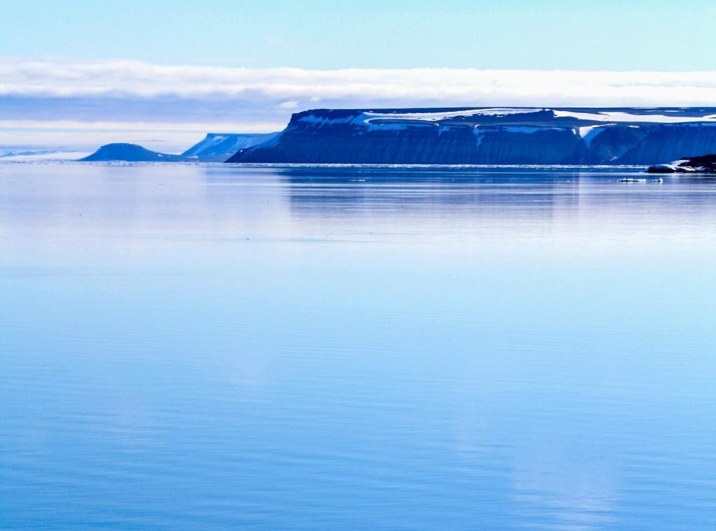 Scenic image of the arctic region