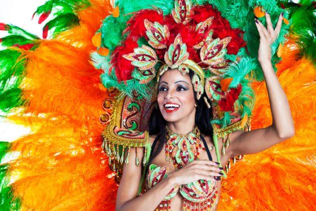 girl dancing during carnival Brazil