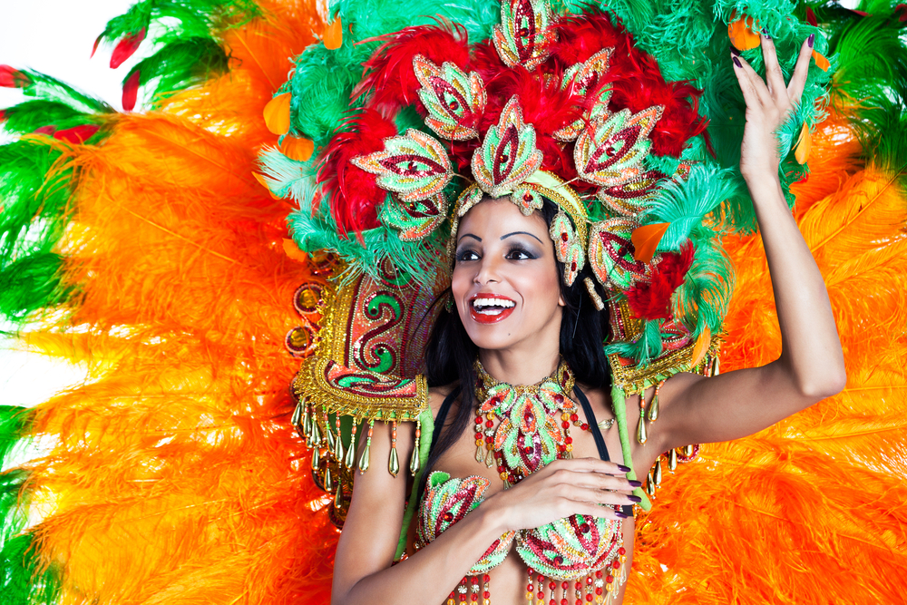 girl dancing during carnival Brazil