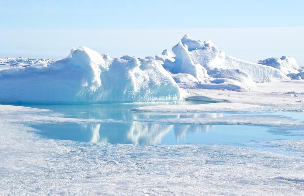 icebergs in the north pole, Arctic region
