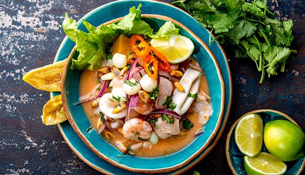Peruvian fish and seafood ceviche