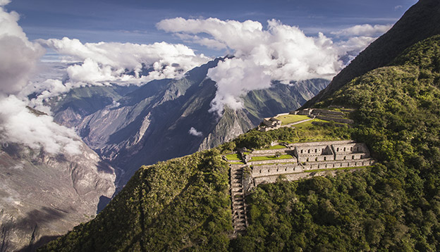 Choquequirao is an Incan site in south Peru, similar in structure and architecture to Machu Picchu