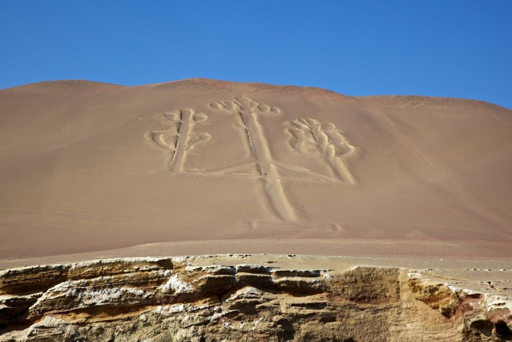 One of the must see destinations in South America: Ancient geoglyphs located in the Nazca Desert, Southern Peru.