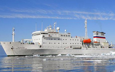 Travel to Antarctica on a cruise aboard the Akademik Vavilov