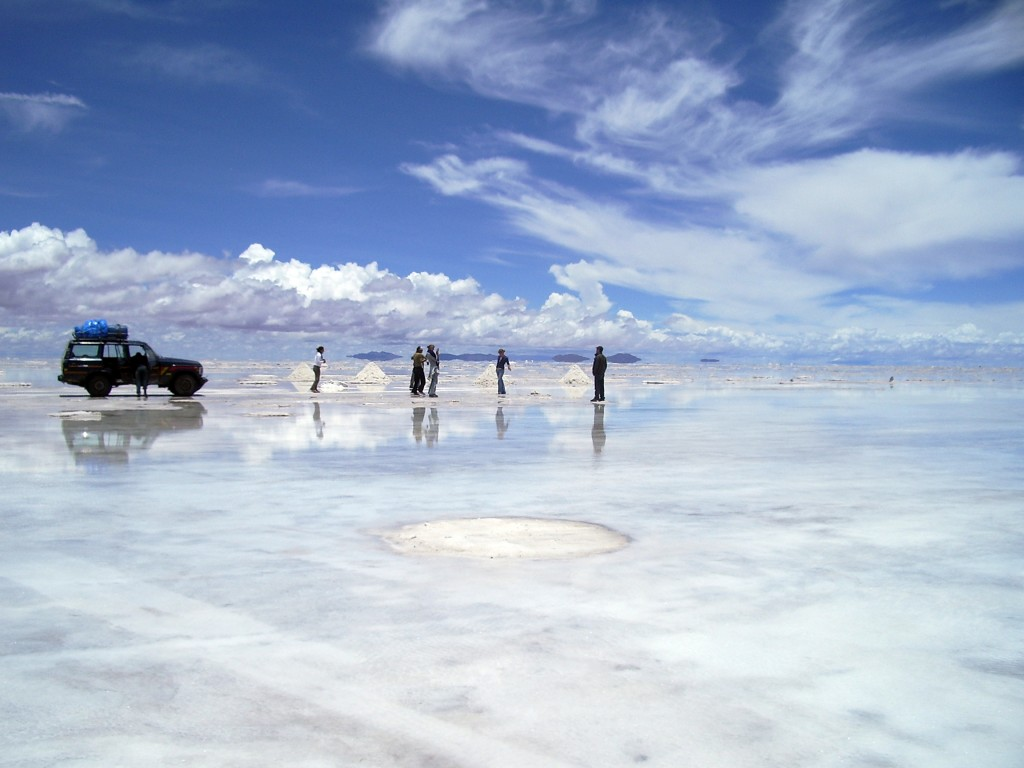 One of the must see destinations in South America: The Spectacular Salt flats of Bolivia.
