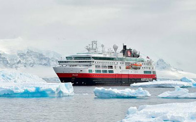 Cruising to Antarctica on the MS Fram
