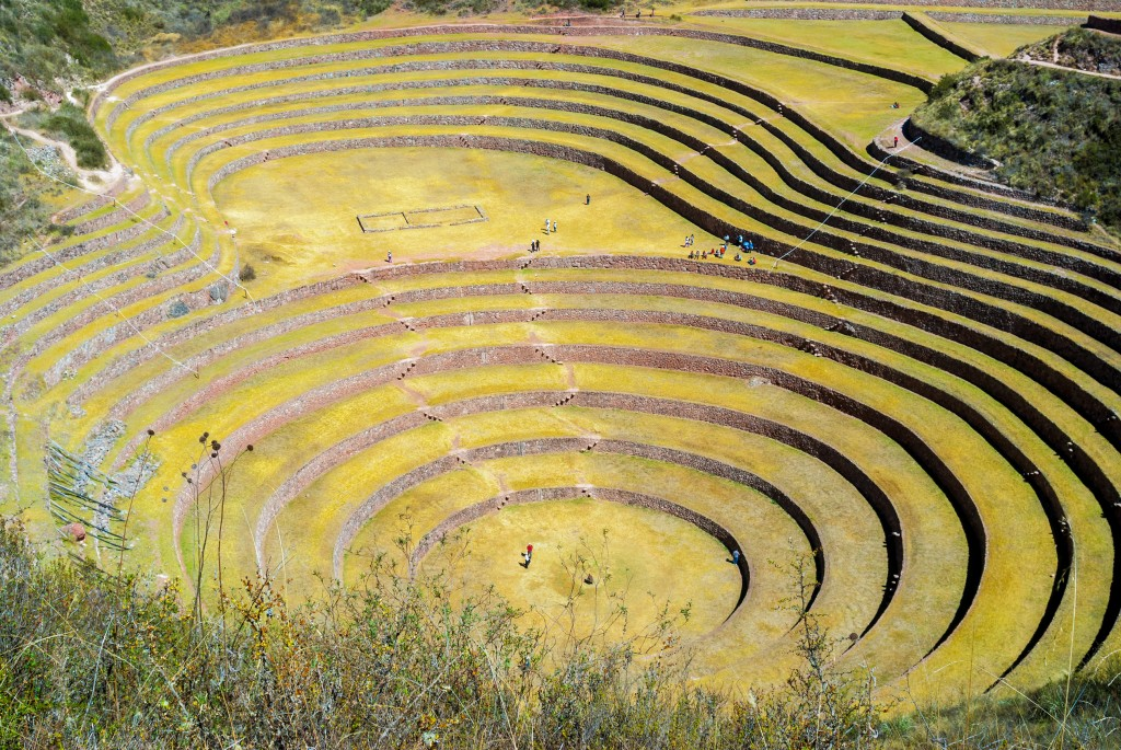 Overlooking photo of Sacred Valley in Peru