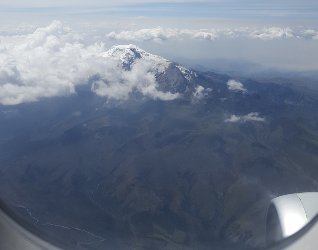 andes as seen on the flight to Coca