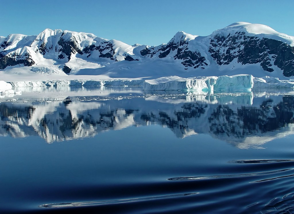 Reflecting water antarctica