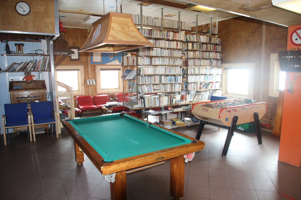 Common Room at the French Antarctic Base Building