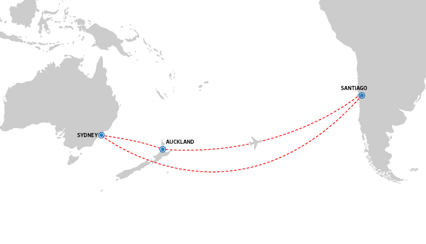 Qantas flight path