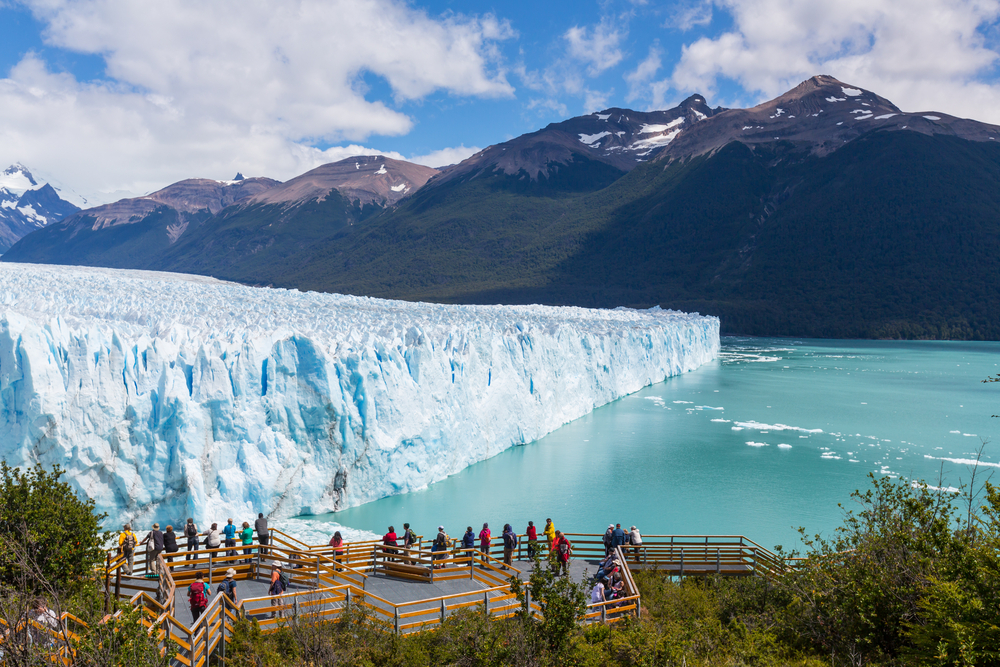 Side angle of the Perito Moreno Glacier, Photo Credit: Shutterstock
