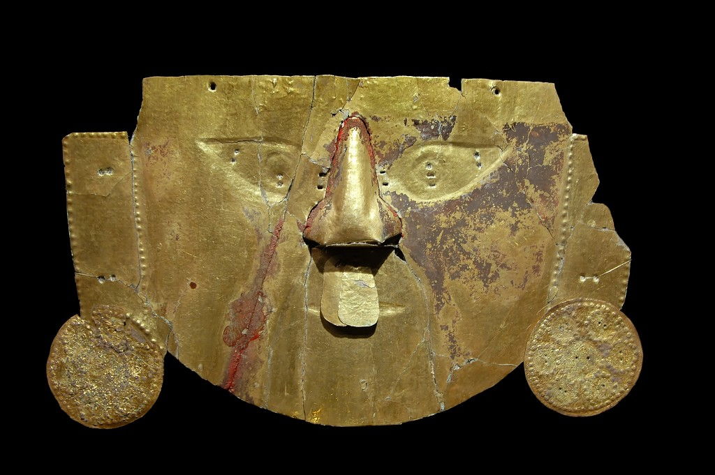 south america Gold Inca Mask