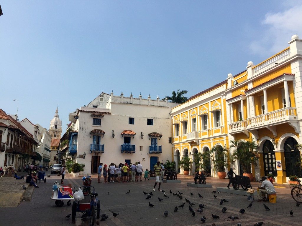 Old town centre in Cartagena, Colombia