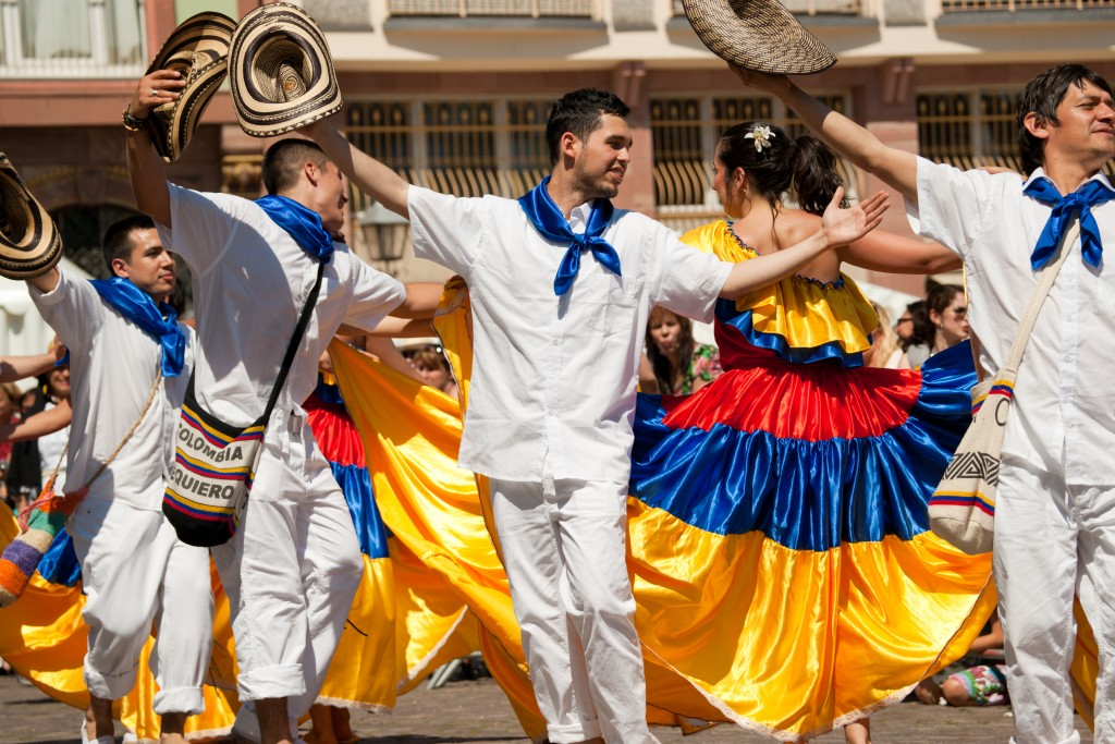 Dancing on the streets of Colombia