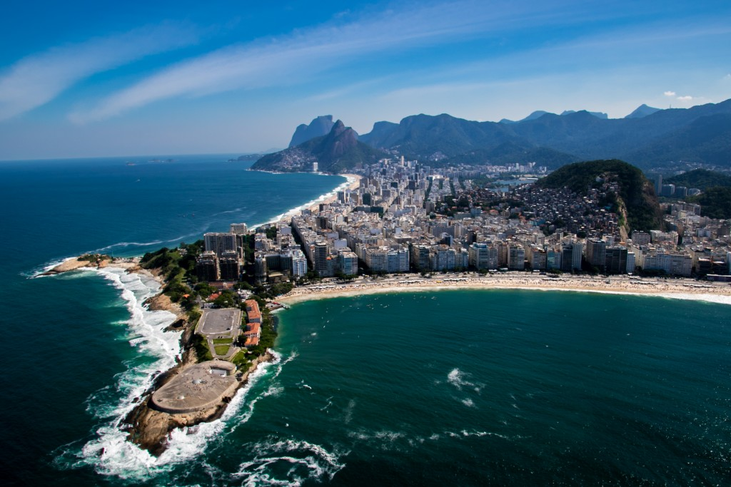 Aerial shot of Copacabana Beach