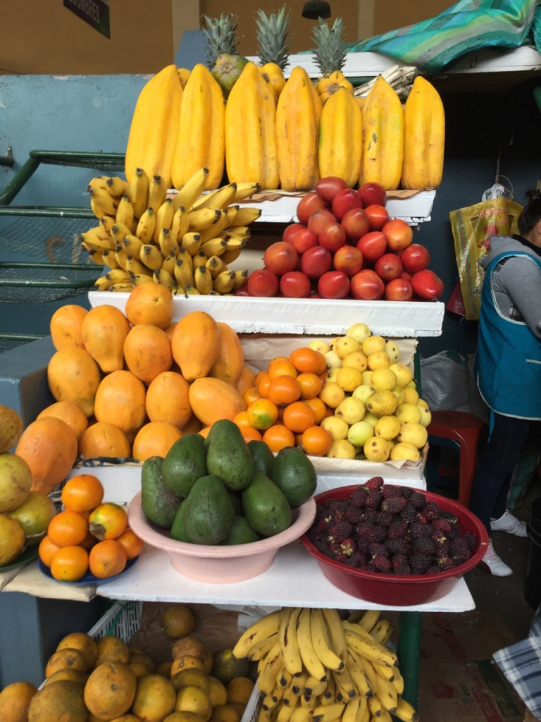 Fruit stand in a local market