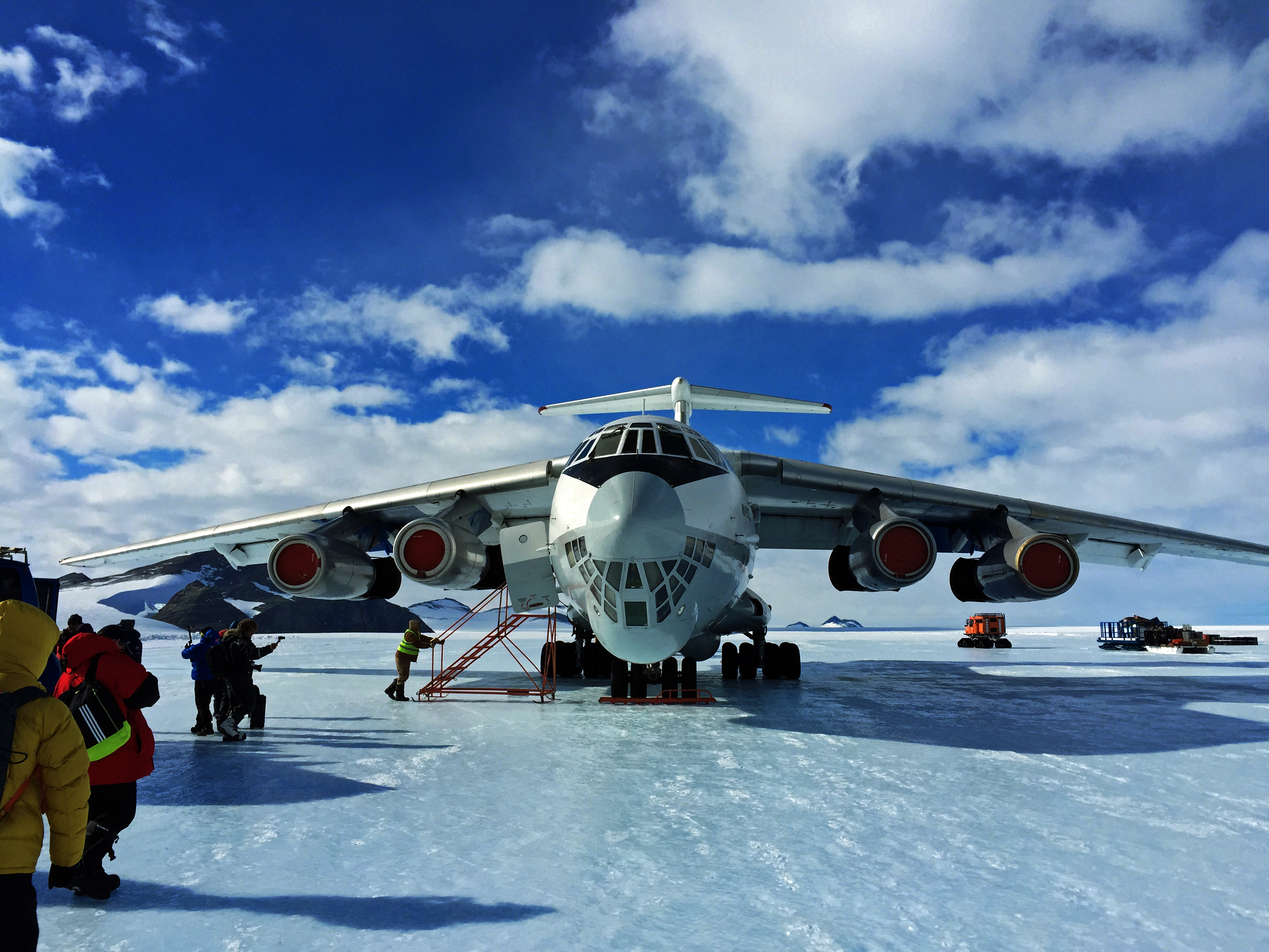 The Ilyushin on the Blue Ice Runway