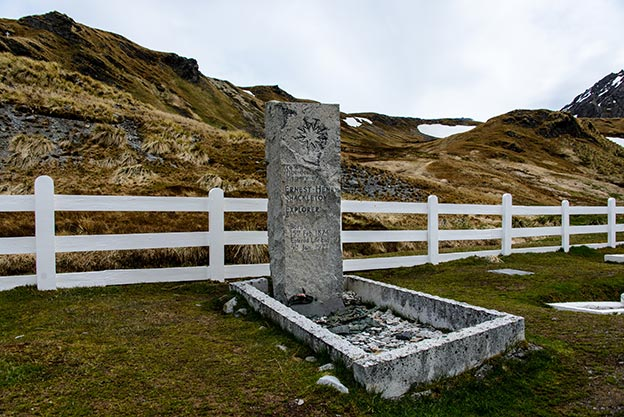 Shackleton's grave in South Georrgia