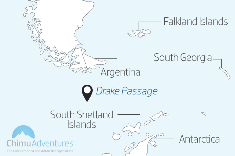 Map of the Drake Passage