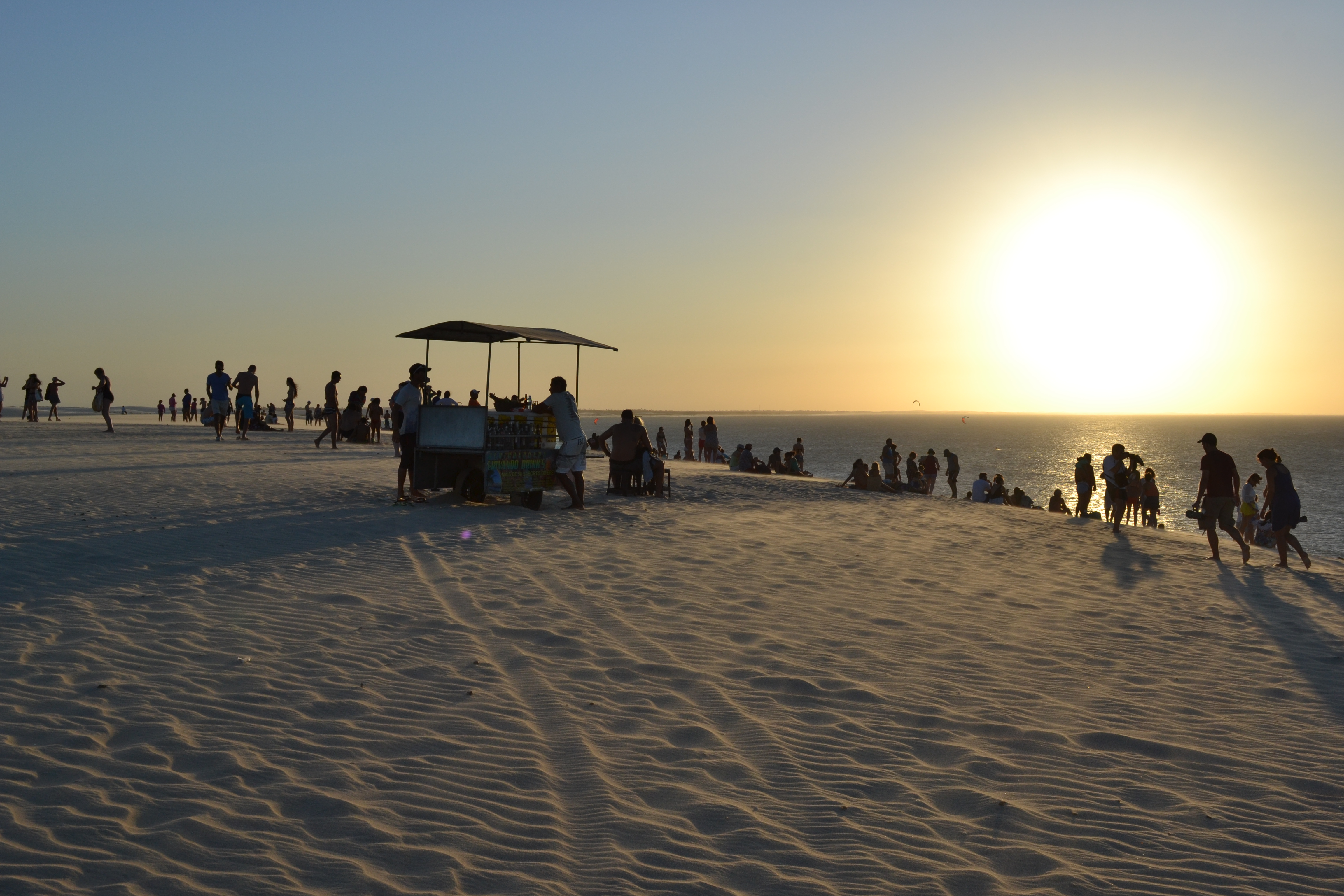 beach with sunset and foodstall in jericoacoara brazil the jericoacoara bubble   the secret beach town in brazil  rh   chimuadventures