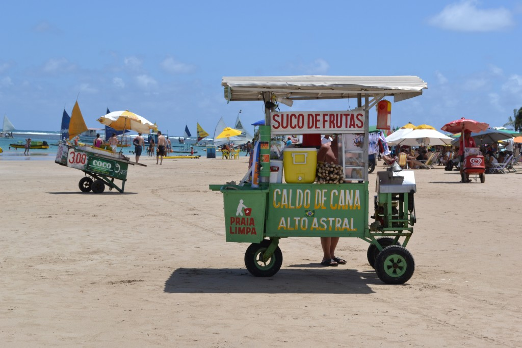 Food vendors at the beach of Porto de Galinhas.