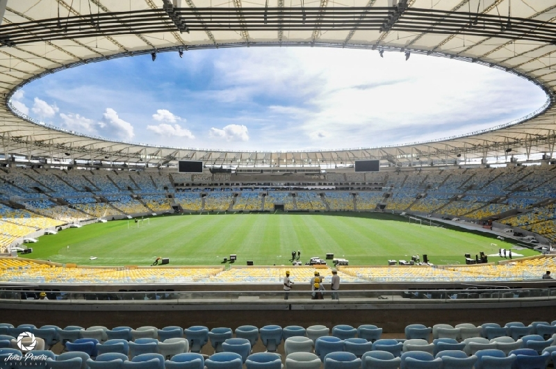 Internal view of Marcana Stadium, Brazil. Photo credit: www.thefootballstadiums.com