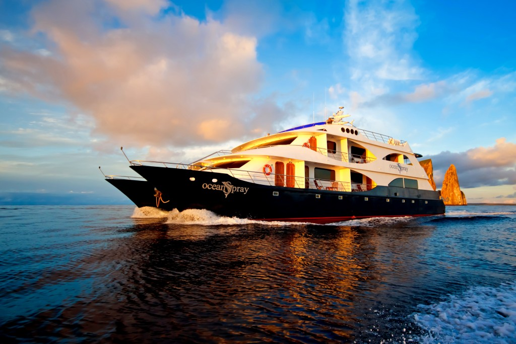 The Ocean Spray is a popular luxury vessel for those wanting to travel around the Galapagos Islands by cruise.