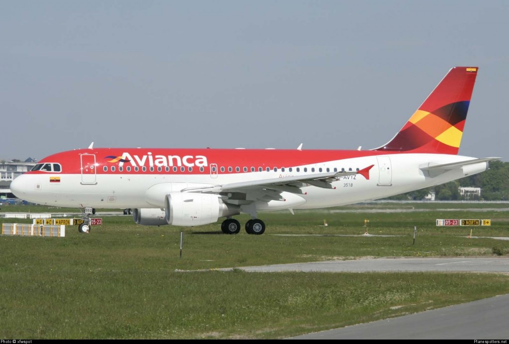 avianca airplane on the ground