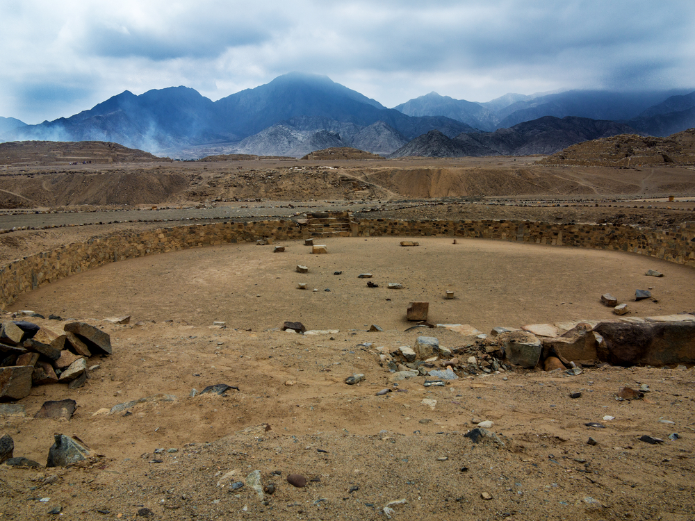 the ancient site of Caral in Peru