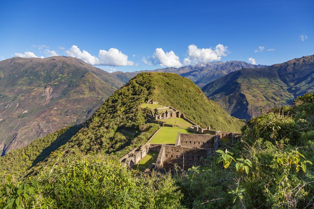 ancient ruin in Peru Choquequirao