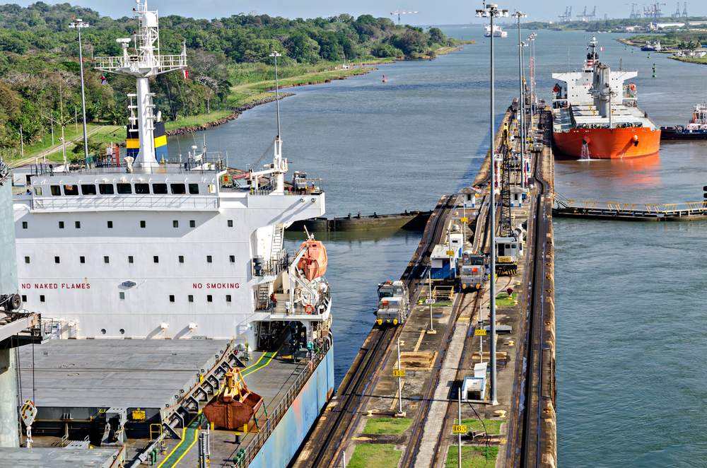 cargo ships in panama canal