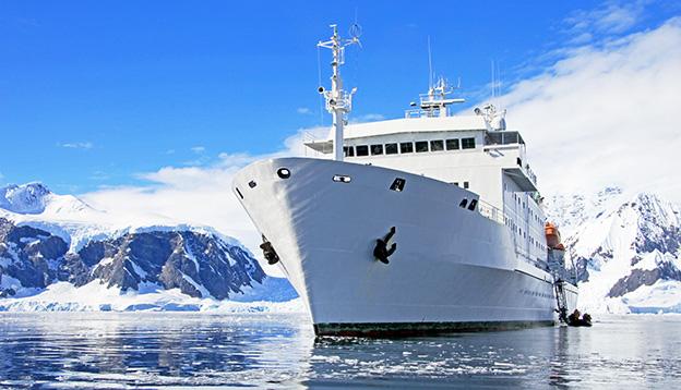 Cruise Ship in Antarctica waters, Antarctica