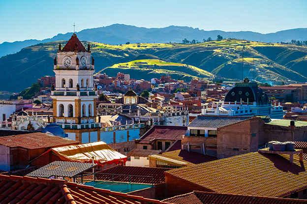 City of Sucre on a sunny day. Bolivia