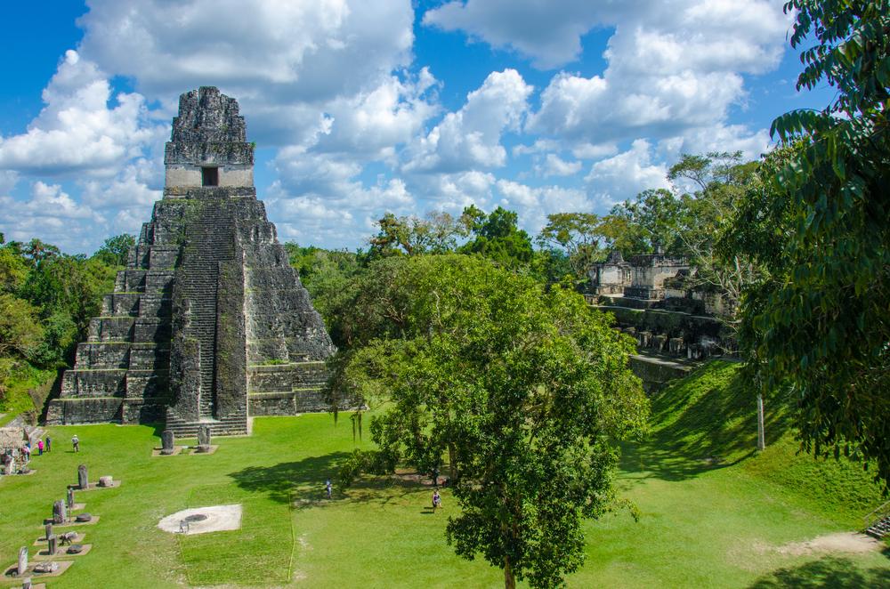 ancient maya ruin guatamala