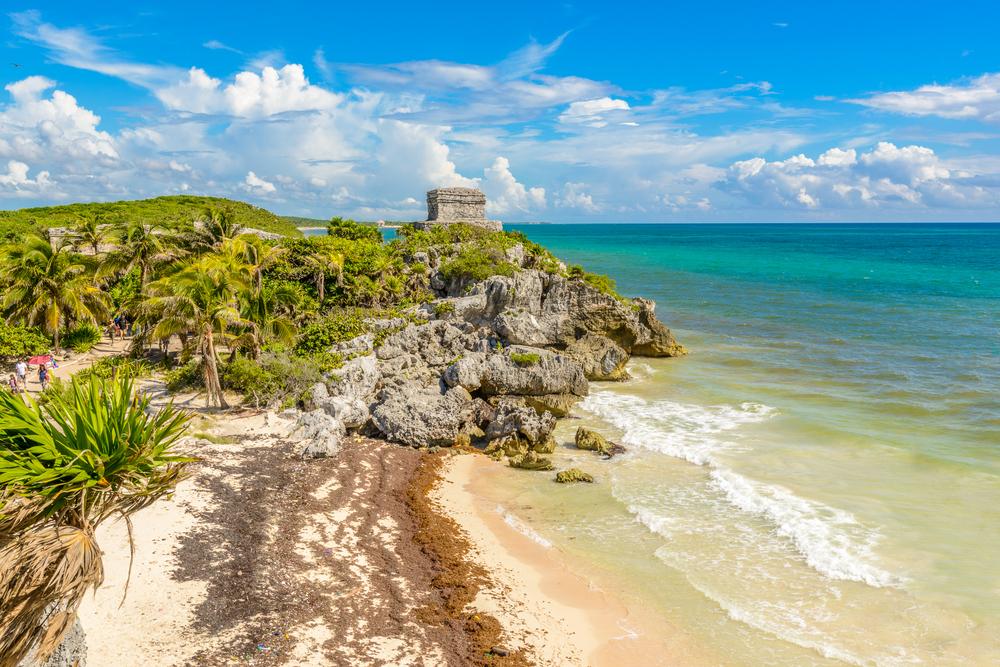 Mayans ruin at the beach Mexico